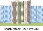 skyscrapers. city district.... | Shutterstock . vector #224596933