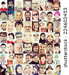 People Faces Collage Of Closeu...