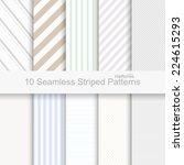 10 seamless striped patterns | Shutterstock .eps vector #224615293