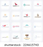 big collection of vector logo... | Shutterstock .eps vector #224615743