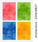vector website design templates ... | Shutterstock .eps vector #224618827