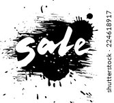 Grunge Sale  Vector Calligraph...