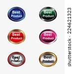 best product icon vector set    Shutterstock .eps vector #224621323