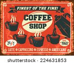 coffee shop background. vector... | Shutterstock .eps vector #224631853