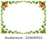 christmas border with bells and ... | Shutterstock .eps vector #224640913