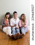 group of young asian friends... | Shutterstock . vector #224665027