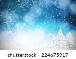 snow against cream snow flake... | Shutterstock . vector #224675917
