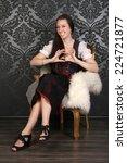 bavarian girl | Shutterstock . vector #224721877