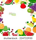 background with fresh fruits | Shutterstock .eps vector #224722933