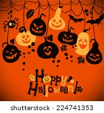 halloween background of... | Shutterstock .eps vector #224741353