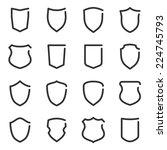 set of different shield outline ... | Shutterstock .eps vector #224745793