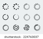 loading indicators vector icon... | Shutterstock .eps vector #224763037
