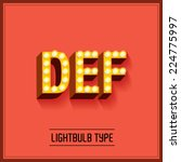 lightbulb typeface font vector... | Shutterstock .eps vector #224775997