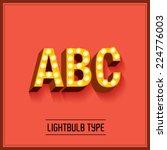 lightbulb typeface font vector... | Shutterstock .eps vector #224776003
