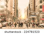 people on the street at madison ... | Shutterstock . vector #224781523