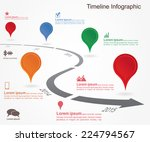 timeline infographics with... | Shutterstock .eps vector #224794567