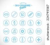 line style vector ski resort... | Shutterstock .eps vector #224795587