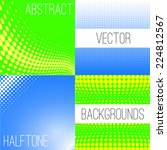 set of vector backgrounds with... | Shutterstock .eps vector #224812567
