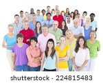 large multi ethnic group of... | Shutterstock . vector #224815483