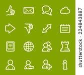social media web icons | Shutterstock .eps vector #224843887