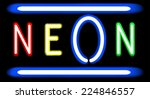 neon sign. vector illustration. ... | Shutterstock .eps vector #224846557