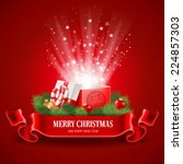 beautiful christmas poster with ... | Shutterstock .eps vector #224857303