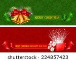 set of two beautiful horizontal ...   Shutterstock .eps vector #224857423