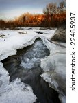 a half frozen river in november.... | Shutterstock . vector #22485937