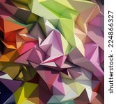 abstract geometric low poly... | Shutterstock . vector #224866327