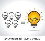 idea design over white... | Shutterstock .eps vector #224869837