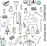 chemical laboratory seamless... | Shutterstock . vector #224887603
