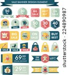 halloween sale banner design... | Shutterstock .eps vector #224890987