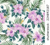 seamless exotic pattern with... | Shutterstock .eps vector #224892187