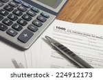 income taxes | Shutterstock . vector #224912173