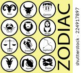 zodiac theme black  | Shutterstock .eps vector #224917897