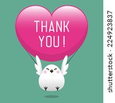 thank you card design in vector | Shutterstock .eps vector #224923837