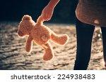 Teddy Bear And Pretty Girl