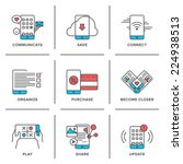 flat line icons set of everyday ... | Shutterstock .eps vector #224938513