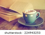 Cup Of Coffee With Book  In...