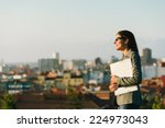 successful young businesswoman... | Shutterstock . vector #224973043