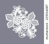 lace flowers decoration element | Shutterstock .eps vector #225016087