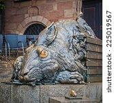 Small photo of NUREMBERG, GERMANY - SEPTEMBER 13, 2014: Hare sculpture - Tribute to Albrecht Durer, on September 13, 2014 in Nuremberg, Bayern Germany.