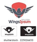 eagle logo  security abstract... | Shutterstock .eps vector #225026653