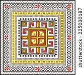 vector ethnic ornament with... | Shutterstock .eps vector #225030187
