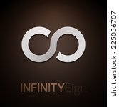 infinity concept symbol icon or ...   Shutterstock .eps vector #225056707
