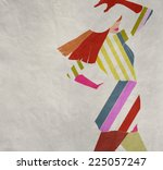 abstract illustration  young... | Shutterstock . vector #225057247