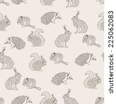 seamless pattern with hedgehog  ... | Shutterstock . vector #225062083