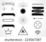 retro design elements. vector... | Shutterstock .eps vector #225067387