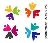 design vector flower logo... | Shutterstock .eps vector #225072493
