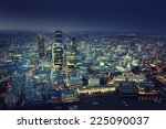 city of london at sunset | Shutterstock . vector #225090037